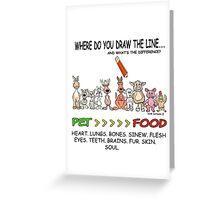 DRAW THE LINE.  www.animalwelfarecartoons.com Greeting Card