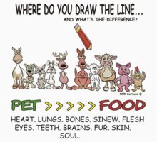 DRAW THE LINE. by Animal Welfare Cartoons