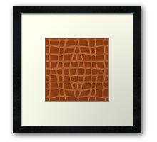 Brown Alligator Skin Framed Print