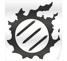 Final Fantasy 14 logo MNK Poster