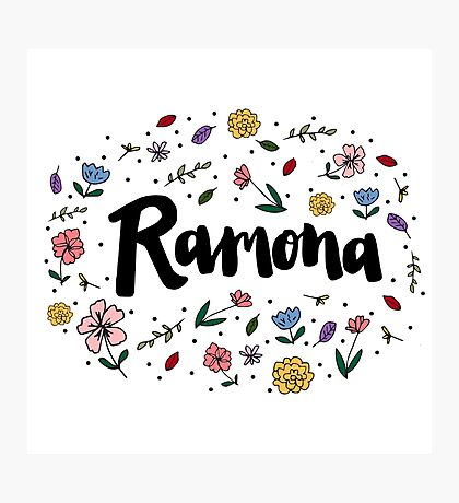 Ramona Logo Two Photographic Print