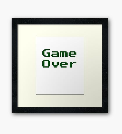 Game Over Retro Game T-Shirt Framed Print