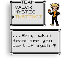 Team Instinct - Pokemon Canvas Print