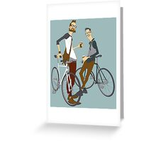 Hipster Bikers Greeting Card