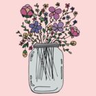 Mason Jar with Flowers by mlleruta