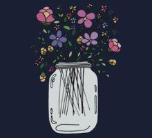 Mason Jar with Flowers Kids Tee