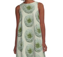 White Zinnia Blossom A-Line Dress