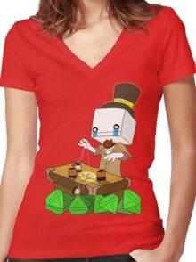 Why Hatty (battleblock theater) Women's Fitted V-Neck T-Shirt