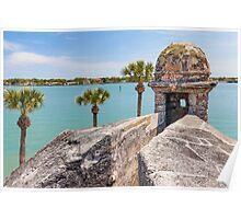 Castillo de San Marcos and Matanzas Bay, St. Augustine, FL Poster
