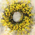 Forsythia Wreath by Lois  Bryan