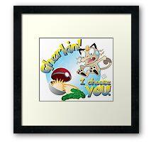 Gherkin! I choose you! Framed Print