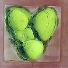 Shell heart in progress by SpottiClogg