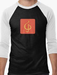 Sazabi Treble Clef Men's Baseball ¾ T-Shirt