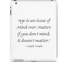 Mind Over Matter iPad Case/Skin