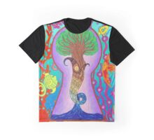 Looking Through the Keyhole II - Fish Tree Graphic T-Shirt