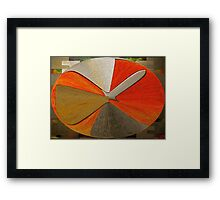 Dial Abstract Framed Print