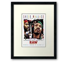 Rasheed Wallace - RAW Framed Print