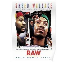 Rasheed Wallace - RAW Poster