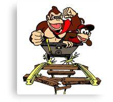 DK & Diddy - Mine Cart Madness Canvas Print
