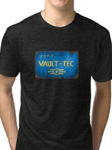 Metal Vault Sign Tri-blend T-Shirt