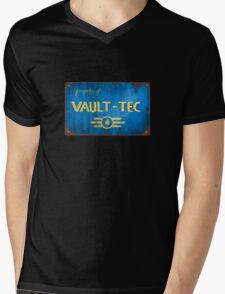 Metal Vault Sign Mens V-Neck T-Shirt