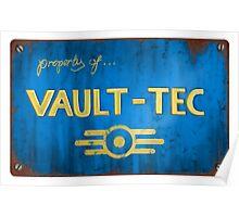 Metal Vault Sign Poster