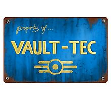 Metal Vault Sign Photographic Print