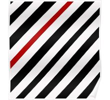 Black and red lines Poster