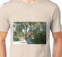 *Trees & Seating, Wyndham City Town Hall, Vic. Australia*  Unisex T-Shirt