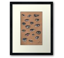 A Collage of Eyes Framed Print