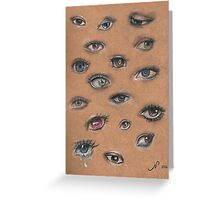 A Collage of Eyes Greeting Card