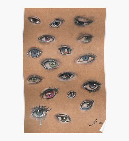 A Collage of Eyes Poster