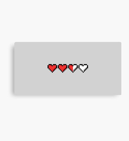 Two and a Half Hearts Remaining Canvas Print
