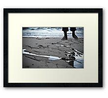 Back to the ocean Framed Print