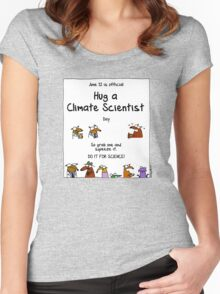 June 12 is official Hug A Climate Scientist Day Women's Fitted Scoop T-Shirt