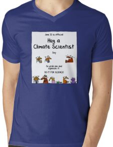 June 12 is official Hug A Climate Scientist Day Mens V-Neck T-Shirt