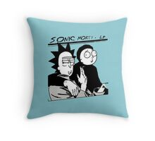 sonic morty 1 Throw Pillow
