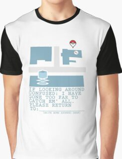 Please Return To - Pokemon Graphic T-Shirt