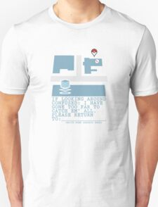 Please Return To - Pokemon Unisex T-Shirt