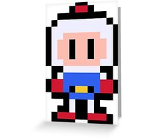 Pixel Bomberman Greeting Card