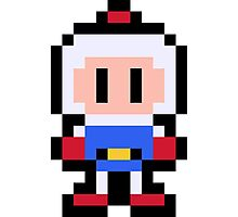 Pixel Bomberman Photographic Print