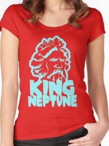 King Neptune Head - Blue Women's Fitted Scoop T-Shirt