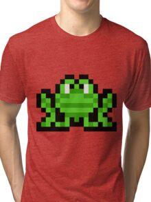 Pixel Frogger Tri-blend T-Shirt