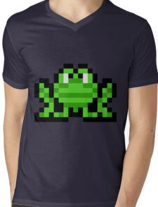 Pixel Frogger Mens V-Neck T-Shirt