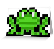 Pixel Frogger Greeting Card