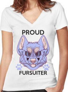 Proud Fursuiter T-shirt (REMADE) Women's Fitted V-Neck T-Shirt