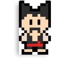 Pixel Heihachi Mishima Canvas Print