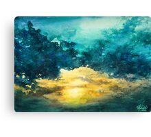 Watercolor Sky No 3 Canvas Print