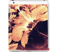 Dark Peach Vintage Hibiscus iPad Case/Skin