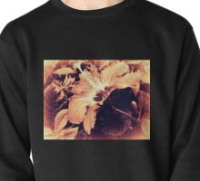 Dark Peach Vintage Hibiscus Pullover